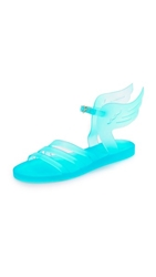Ancient Greek Sandals Ikaria Wing Jelly Sandals Clear Turquoise