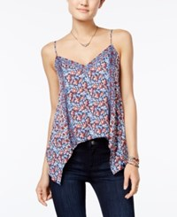 American Rag Printed Handkerchief Hem Top Only At Macy's Indigo Combo