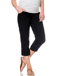 Motherhood Maternity Pants Convertible Cargo Pants Black