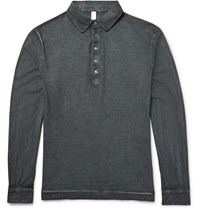 Massimo Alba Slim Fit Garment Dyed Cotton Jersey Polo Shirt Anthracite