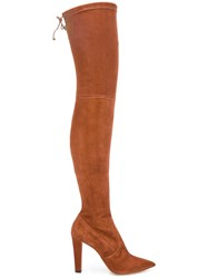 Jean Michel Cazabat 'Elvira' Thigh High Boots Brown