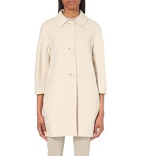 Max Mara Mid Sleeve Wool Coat Ivory