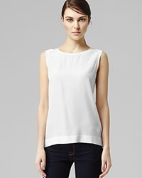 Reiss Top Kali Sleeveless White