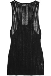 Anthony Vaccarello Open Knit Tank Black