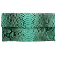 Primary Printed Prime Clutch Aqua