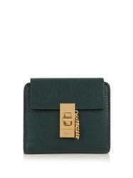 Chloe Drew Square Leather Wallet Dark Green