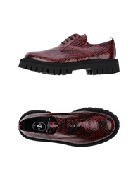 Bruno Bordese Lace Up Shoes Fuchsia