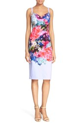 Ted Baker Women's London 'Emore' Floral Print Strappy Sheath Dress Pale Blue