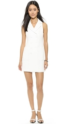Nanette Lepore Venture Vent Dress White
