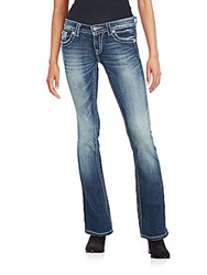 Miss Me Distressed Faded Jeans Dark Blue