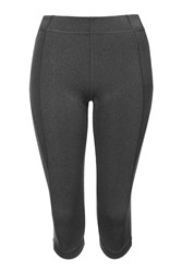 V' Mid Rise Capri Leggings By Ivy Park Grey