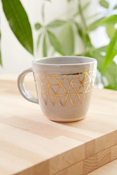 Pickle Pottery Triangles Mug Urban Outfitters