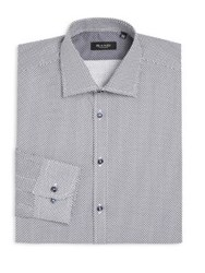Sand Regular Fit Diamond Print Dress Shirt White Blue
