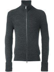 Maison Martin Margiela Ribbed Zip Cardigan Grey