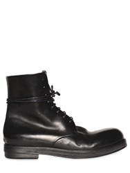 Marsell Horse Leather Combat Boots
