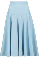 Vionnet Pleated Wool And Angora Blend Skirt Sky Blue