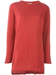 Romeo Gigli Vintage Crew Neck Jumper Red