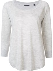 Atm Anthony Thomas Melillo Scoop Neck Pullover Grey