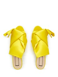 No.21 Bow Satin Sandals Yellow