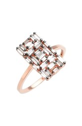 Suzanne Kalan Women's 'Fireworks' Rectangular Baguette Diamond Ring