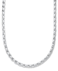 Macy's Men's Sterling Silver Necklace 22' Textured Wheat Chain