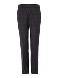 Simon Carter Prince Of Wales Flannel Trousers Grey