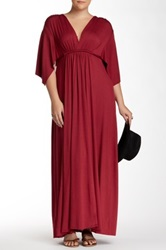 White Label By Rachel Pally Jersey Knit Kaftan Maxi Dress Plus Size Red