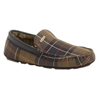 Barbour Monty Tartan Slippers Green Multi