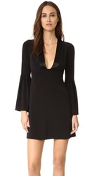 Jill Stuart Deep V Bell Sleeve Dress Black