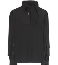 Red Valentino Silk Chiffon Blouse Black