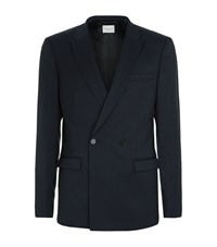 Sandro Croise Tailored Jacket Male Blue