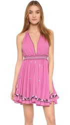 Loveshackfancy String Halter Cover Up Dress Hot Pink
