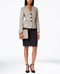 Le Suit Printed Jacket Skirt Suit