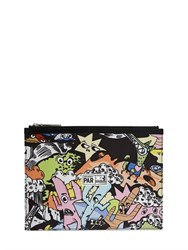 Kenzo Cartoon Printed Nylon Pouch