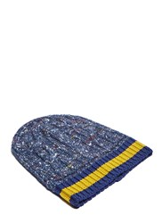 Gucci Oversized Cable Knit Beanie Navy