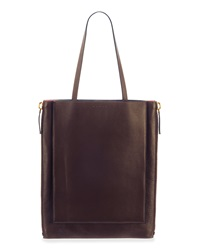 Marni Bicolor Shopping Tote Bag Brown Coral