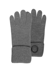 Dsquared Cable Knit Wool Men's Gloves Dark Gray