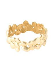 Natasha Collis Small 'Cobbled' Nugget Ring Metallic