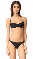 Milly Maxime Underwire Bikini Top Black