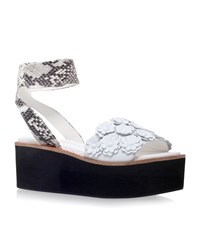 Kurt Geiger London Blanca Flatform Sandals Female White