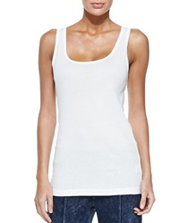 Xcvi Basic Slim Cotton Tank White Women's