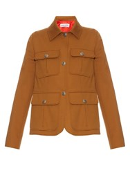 Sonia Rykiel 70S Stretch Cotton Twill Jacket Tan