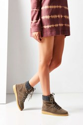 Urban Outfitters Justine Gum Sole Hiker Boot Light Grey
