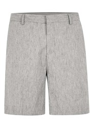 Topman Grey Textured Long Length Formal Shorts