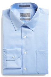 John W. Nordstrom Traditional Fit Solid Pique Dress Shirt Blue
