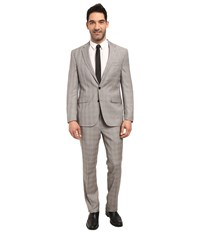 Kenneth Cole Reaction Chelsea Suit Black White Red Plaid Men's Suits Sets Multi