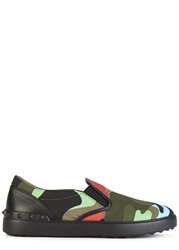 Valentino Camouflage Canvas Skate Shoes