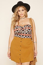 Forever 21 Plus Size Tribal Print Top