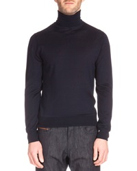 Berluti Long Sleeve Turtleneck Sweater Navy