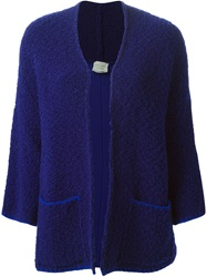 Forte Forte Open Front Cardigan Blue